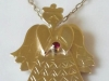 9ct Yellow Gold Angel, Ruby