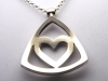 Heart Triangle Pendent, Sterling Silver