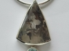 Moss Agate and Topaz Pendent