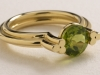 18ct Yellow Gold and Peridot, Celtic Ring
