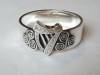 Sterling Silver, Harp and Triscel Ring