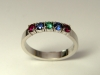 Ruby, Sapphire and Emerald Ring