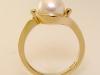 Yellow Gold, Pearl, Diamonds Ring