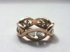 Rose Gold, White Gold Symbolic Ring