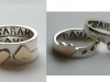 Sterling Silver and 18ct yellow gold Heart Jigsaw Rings