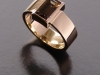Smokey Quartz, 9ct Yellow Gold Ring